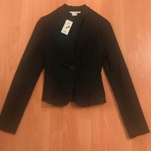 A black striped Charlotte Russe blazer